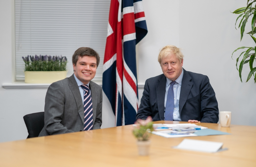 Jack Gilmore with Boris Johnson